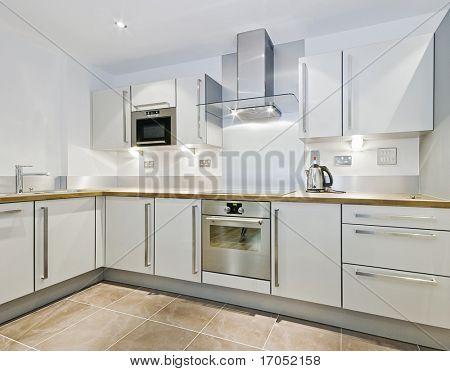 modern kitchen counter in