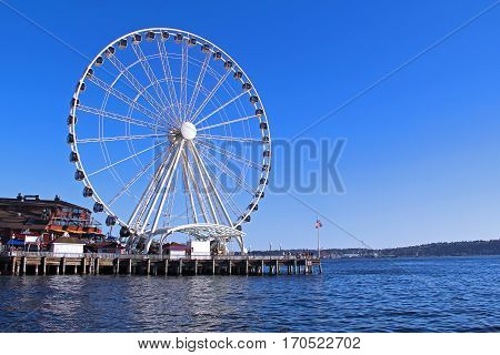 Seattle Great Ferris Wheel in Seattle, Washington, USA