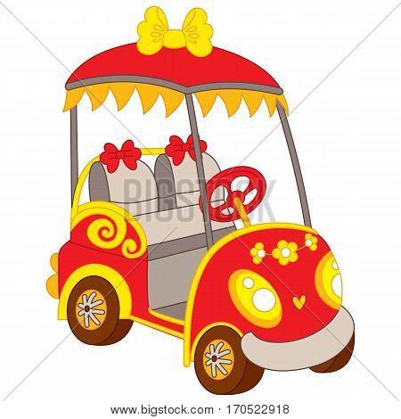 Vector golf buggy, golf car, golf cart