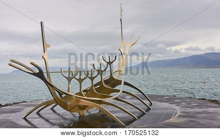 Reykjavik, Iceland - September 15, 2016: The Sun Voyager On 15 S