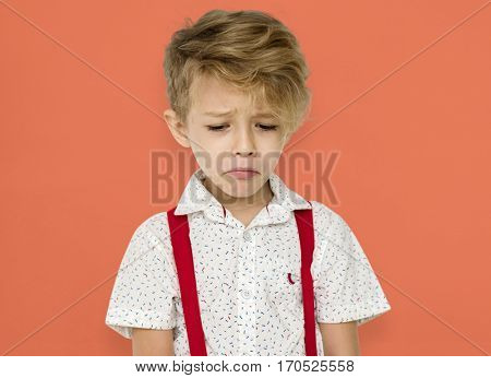 Little Boy Frowning Sad Cry