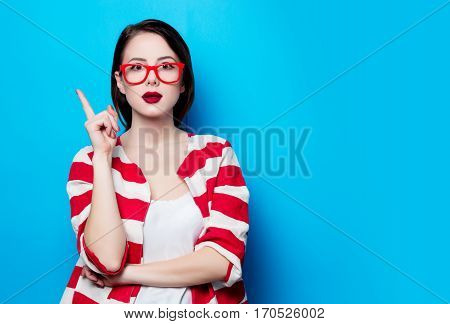 Portrait Of The Beautiful Young Surprised Woman