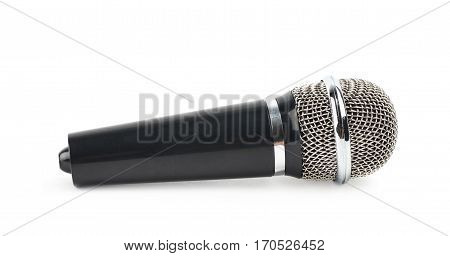 Wireless microphone isolated over the white background