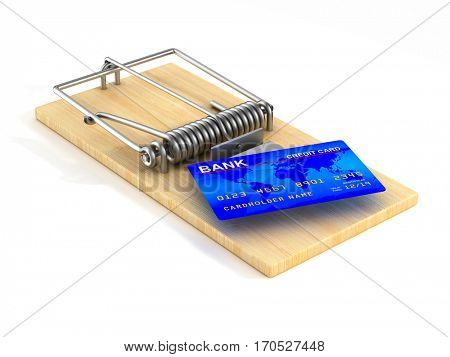 Financial risk. Isolated 3D image