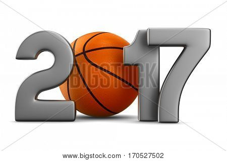 basketball 2017. Isolated 3D image