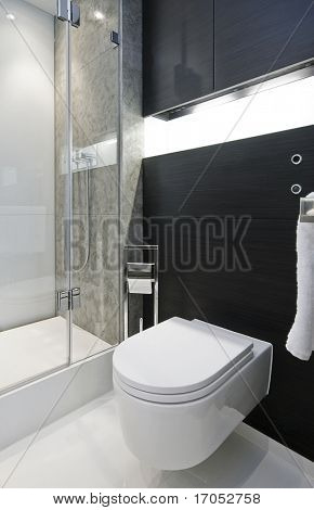 modern luxury bathroom detail with marble tiles