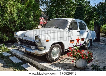Old Car Volga. Restored Vintage Car. The Legacy Of The Soviet Er