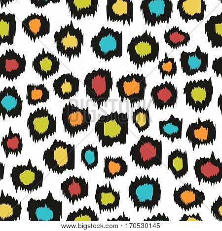 Decorative seamless background for design. Imitation leopard skins