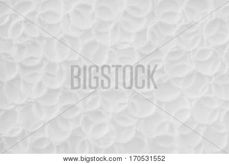 Creative white texture with circles.
