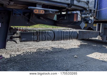 Hitch A Truck. Hitching A Trailer. Equipment For The Transportat