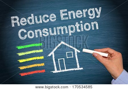 Reduce Energy Consumption - house or home with energy efficiency