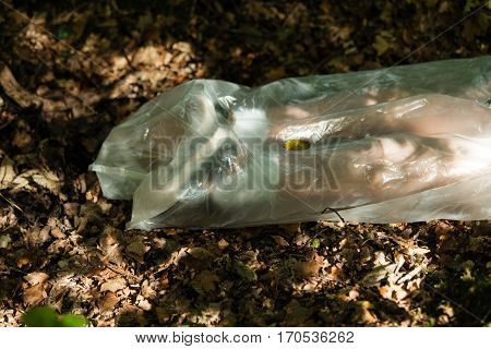 Legs Of A Dead Boys Body Wrapped In Plastic