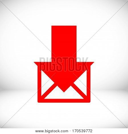 stock vector email or sms icon mobile mail sign simbol