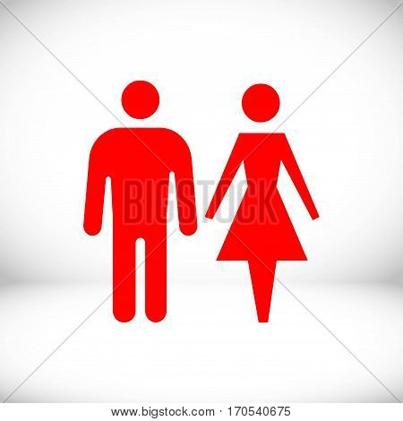 man and woman icon stock vector illustration flat design
