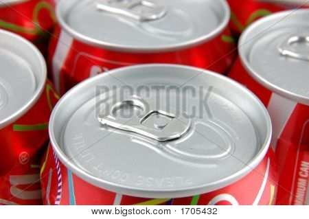 Red Soda Cans