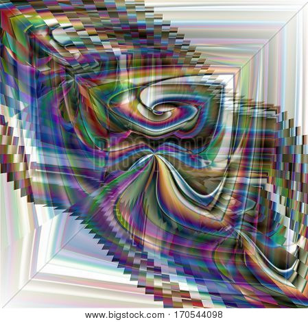 Abstract coloring background of the horizon gradient with visual wave,illusion, poolar coordinates and lighting effects