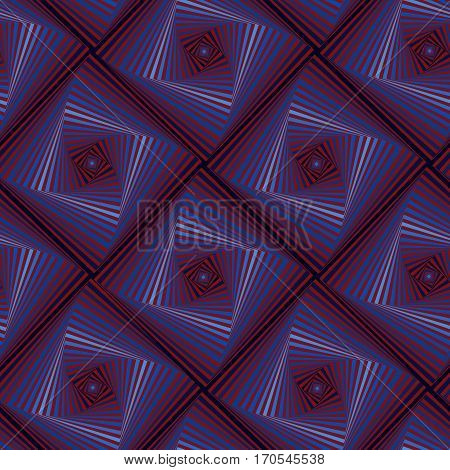 Seamless Pattern With Whirling Quadratic Forms