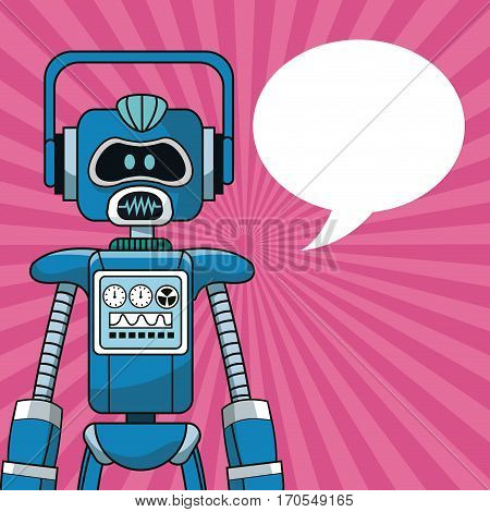 robot intelligence artificial bubble speech vector illustration eps 10