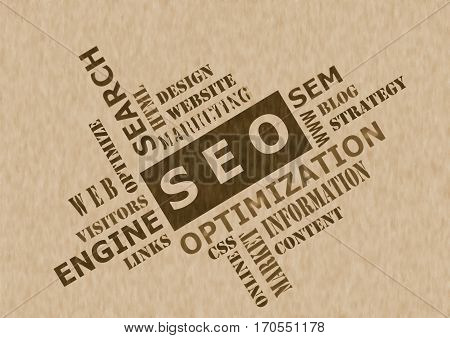 The SEO concept  - Search Engine Optimization