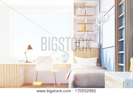 Side View Of Kid's Room With Table, Toned