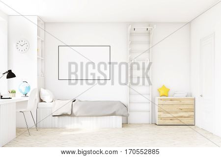 Child Room With A Bed And A Table