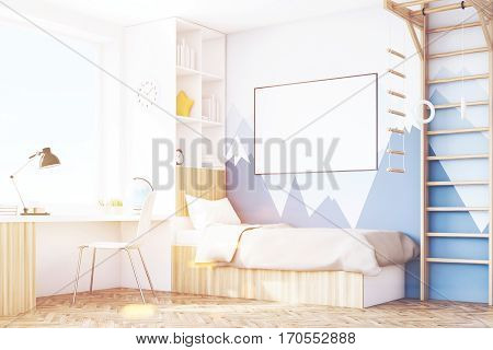 Corner Of Kid's Room With Table, Toned