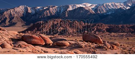 Alabama hills is a region in the Eastern Sierras with unusual granite formations.