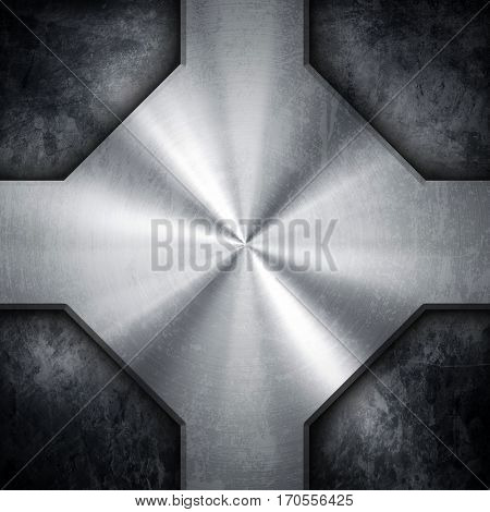 stained metal design background