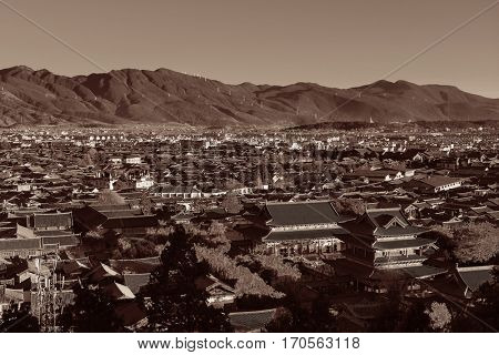 Lijiang mountain top view, Yunnan, China.
