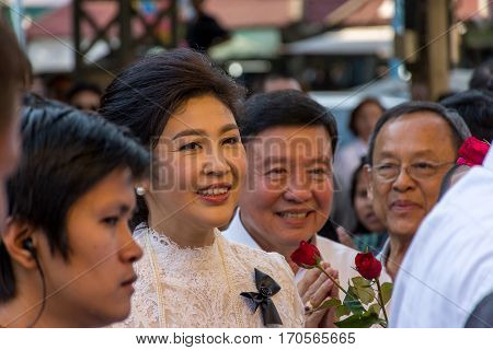 Yingluck Shinawatra Pray For Makha Bucha Day