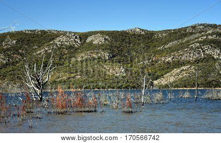 Lake Bellfield in the Grampians National Park Victoria Australia.