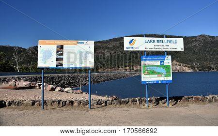 Halls Gap Australia - Jan 3 2017. Lake Bellfield in the Grampians National Park Victoria Australia.