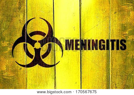 Vintage Meningitis on a grunge wooden panel
