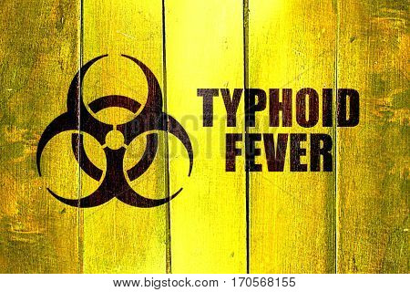 Vintage Typhoid fever on a grunge wooden panel