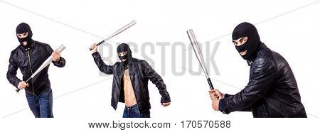 Male thug isolated on the white
