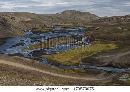 River crossing near Landmannalaugar, Iceland
