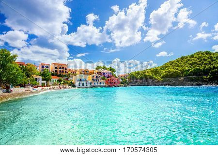 Assos beach in Kefalonia, Greece.