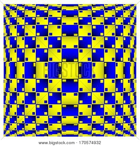 Optical Illusion. Vector 3d Art. Distortion Dynamic Effect. Geometric Magic Background