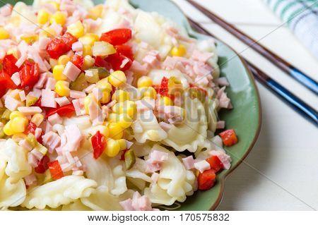 Creste Di Gallo Pasta With Vegetables