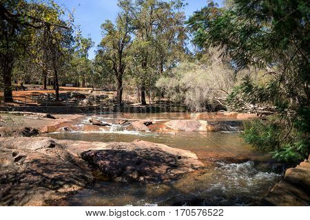 Picnic Spot Near The River In John Forrest National Park