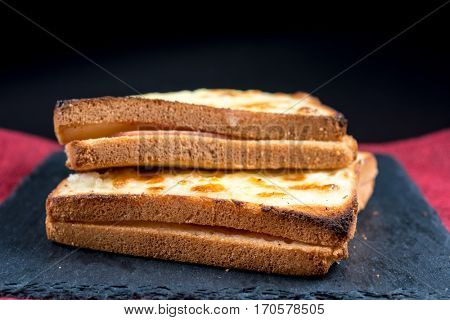 Traditional French Toasted Sandwich croque