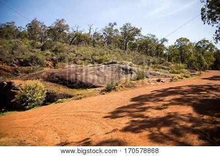 Rock landscape in John Forrest National park Western Australia