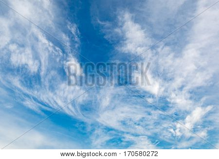 light clouds in sky - abstract background