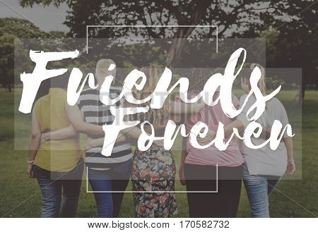 Friend Forever Love Happiness Concept