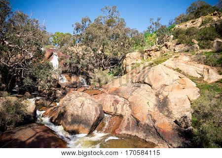 A View Of National Park Falls From The Bottom Viewing Platform At John Forrest National Park