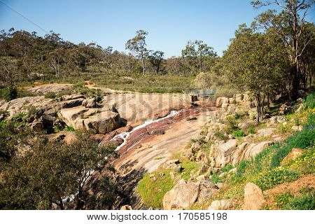National Park Falls View At John Forrest National Park