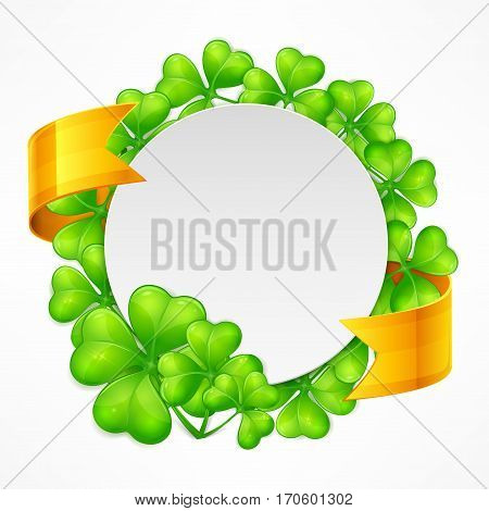 St. Patrick's Day Round Tamplate