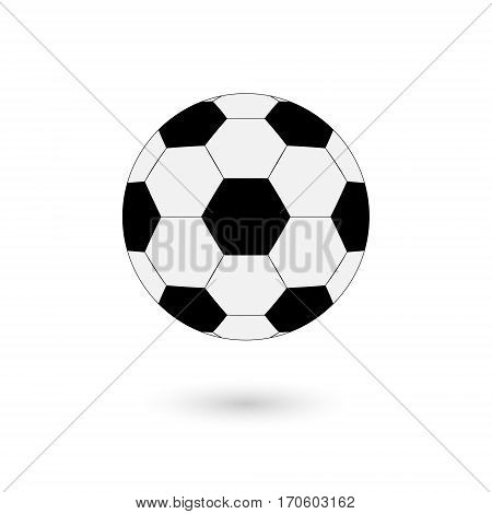 Football vector illustrator icon soccerball on white