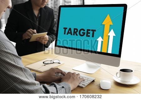 Businessman Success Increase Growth Target Earnings Quality Improve Your Skills And Make Things Bett