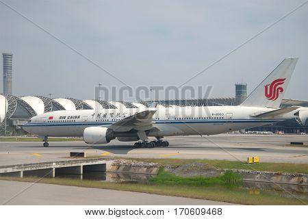 BANGKOK, THAILAND - DECEMBER 11, 2016: Boeing 777 (B-2063) of the airline